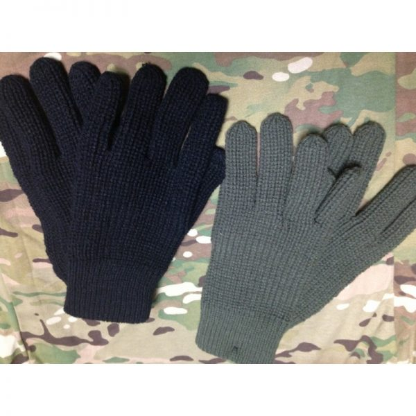 Guantes de Lana Negros/Verdes