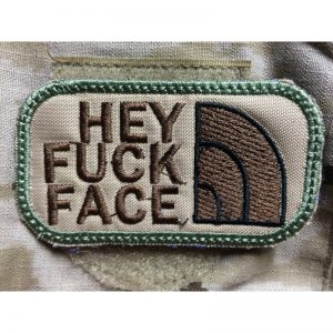 Emblema Bordado HEY FUCK FACE