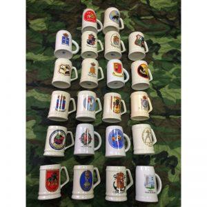 Tazas de colecciòn militares