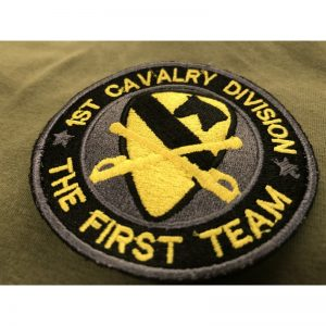 Emblema Bordado 1 ST Division Caballeria US